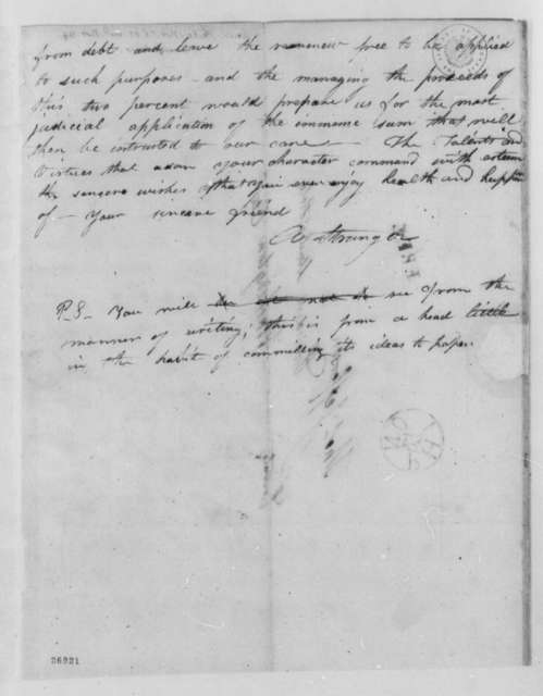Anonymous to Thomas Jefferson, November 26, 1805