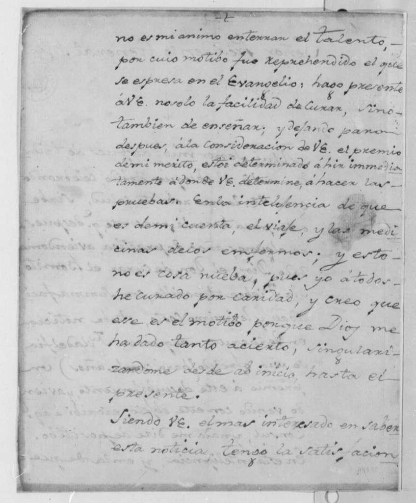 Antonio Garcia Herreros to Thomas Jefferson, August 9, 1805, in Italian