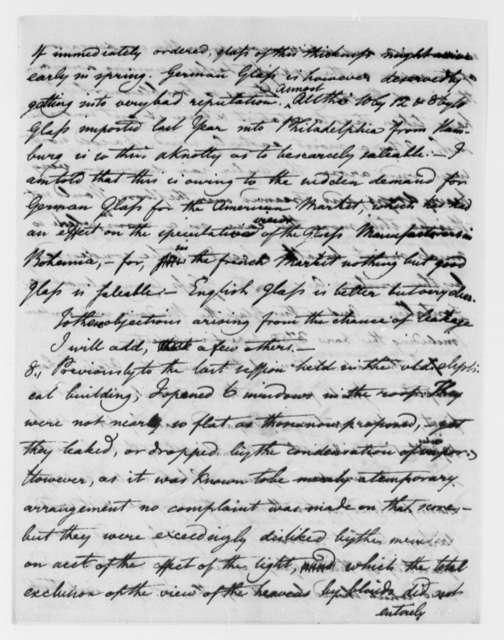 Benjamin H. Latrobe, Surveyor of the Public Buildings to Thomas Jefferson, August 31, 1805