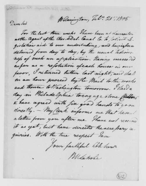 Benjamin H. Latrobe, Surveyor of the Public Buildings to Thomas Jefferson, February 21, 1805