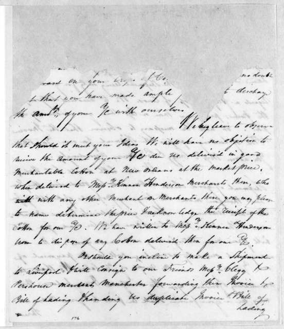 Buckam & Reese to Jackson Watson & Co., January 31, 1805