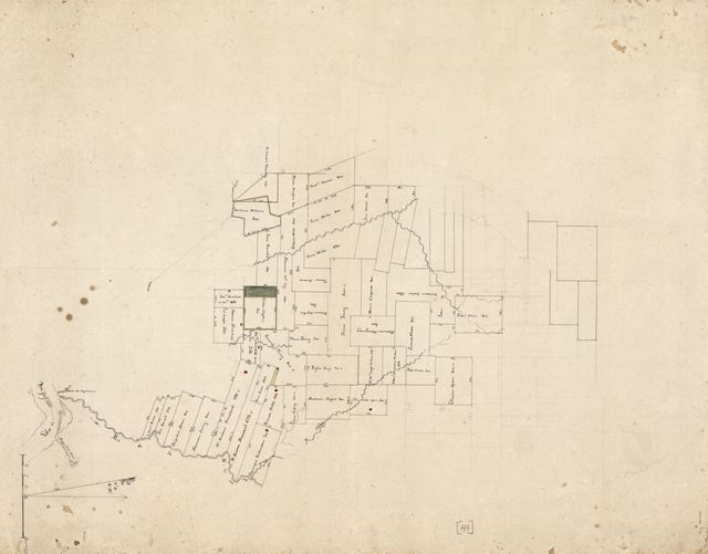 [Cadastral map of a portion of Feliciana District, Spanish West Florida, along the Feliciana River].