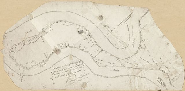 [Cadastral map of an area along the Mississippi River from the United States-Spanish border south to McIntosh Island] /