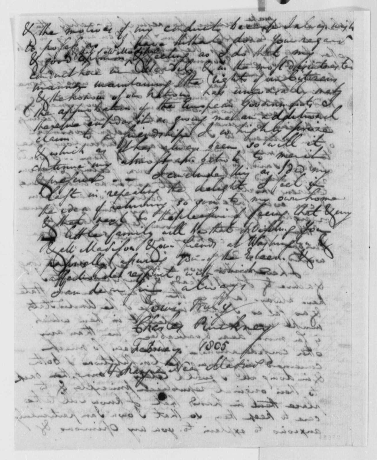 Charles Pinckney to Thomas Jefferson, February 1805