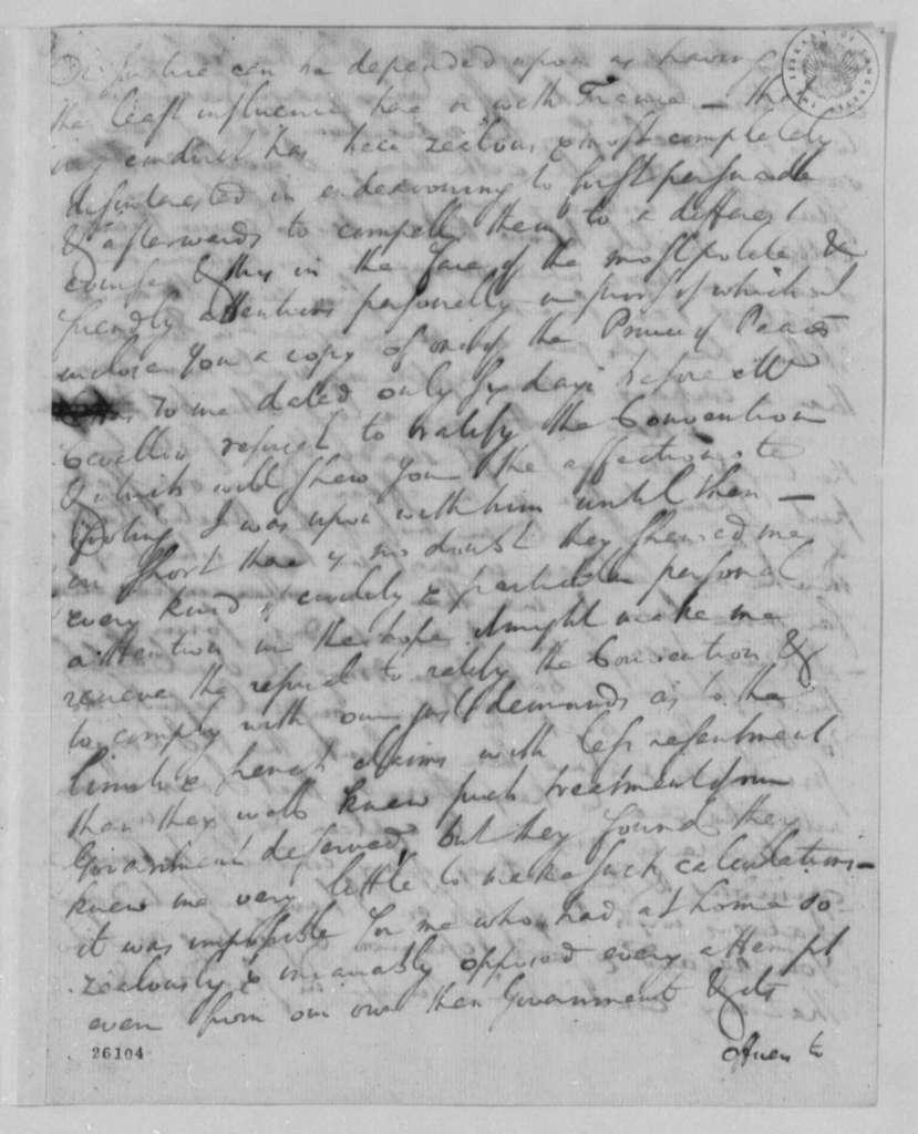 Charles Pinckney to Thomas Jefferson, May 22, 1805