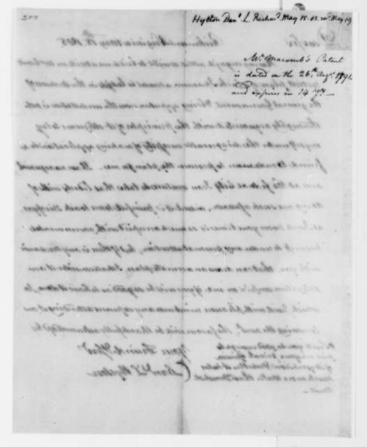 Daniel L. Hylton to Thomas Jefferson, May 15, 1805