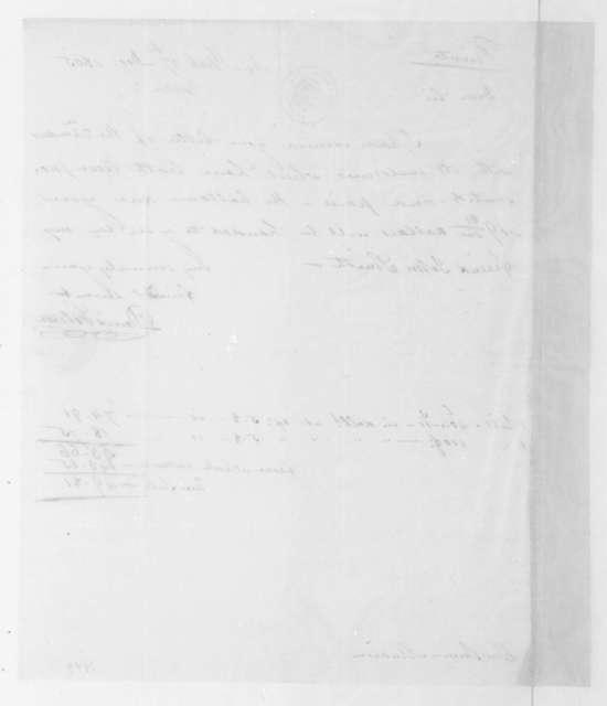 David Gelston to James Madison, December 27, 1805.