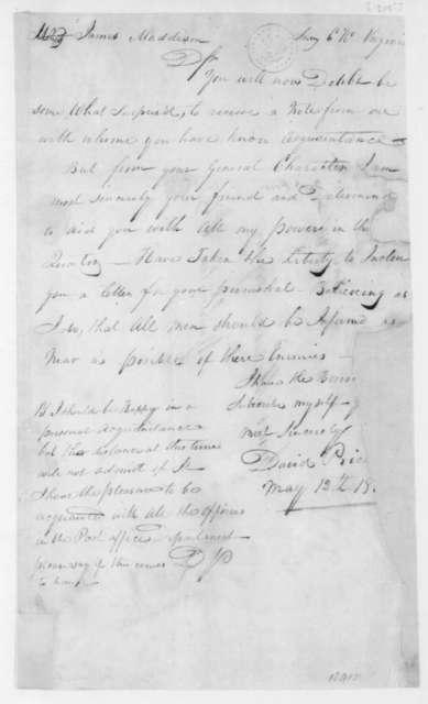 David Price to James Madison, May 12, 1805.