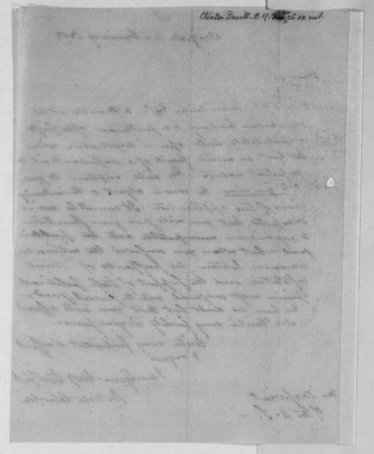 Dewitt Clinton to Thomas Jefferson, January 26, 1805