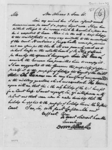 Dominie A. Hall to Albert Gallatin, June 3, 1805