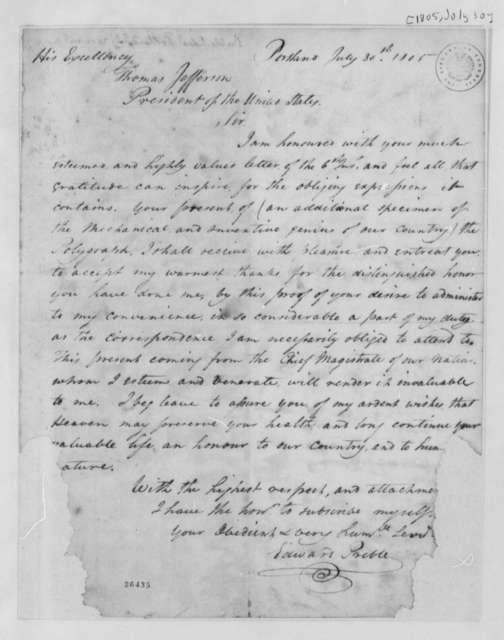 Edward Preble to Thomas Jefferson, July 30, 1805