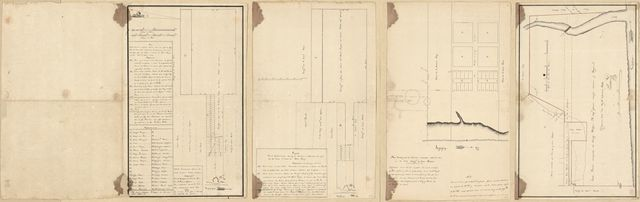 [Four plats on the Mississippi River at Baton Rouge 1805].