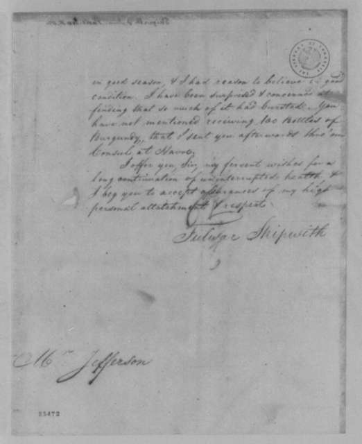 Fulwar Skipwith to Thomas Jefferson, January 15, 1805, with Copy