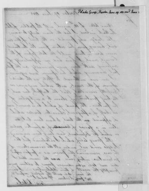 George Blake to Thomas Jefferson, June 19, 1805