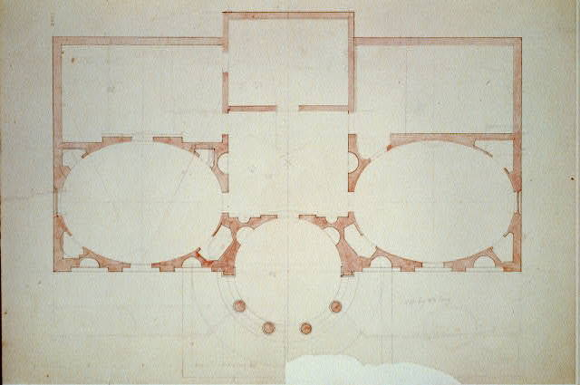 "[House (""Tudor Place"") for Thomas and Martha Custis Peter, 1644 31st Street, N.W., Georgetown, Washington, D.C. Floor plan]"
