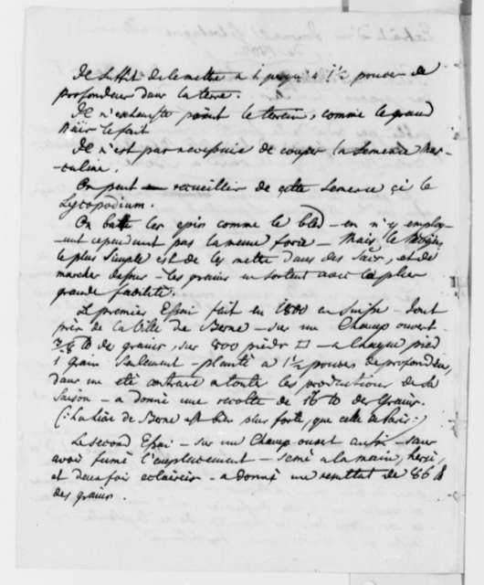 J. Philip Reibelt, May 18, 1805, Extract on Italian Maize in French