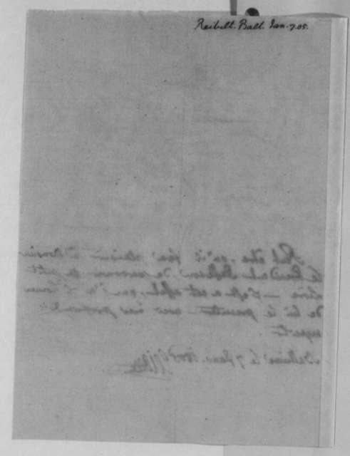 J. Philip Reibelt to Thomas Jefferson, January 7, 1805, in French