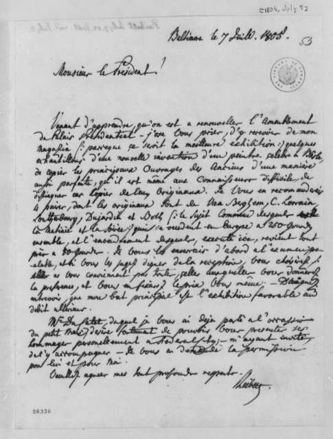 J. Philip Reibelt to Thomas Jefferson, July 7, 1805, in French