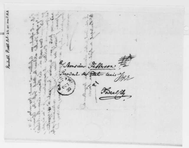 J. Philip Reibelt to Thomas Jefferson, October 22, 1805, in French