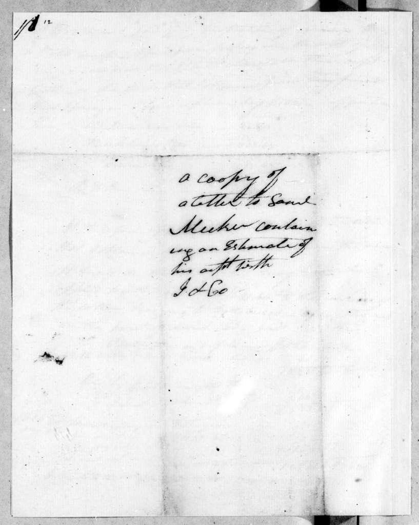 Jackson Watson & Co. to Samuel Meeker, March 26, 1805
