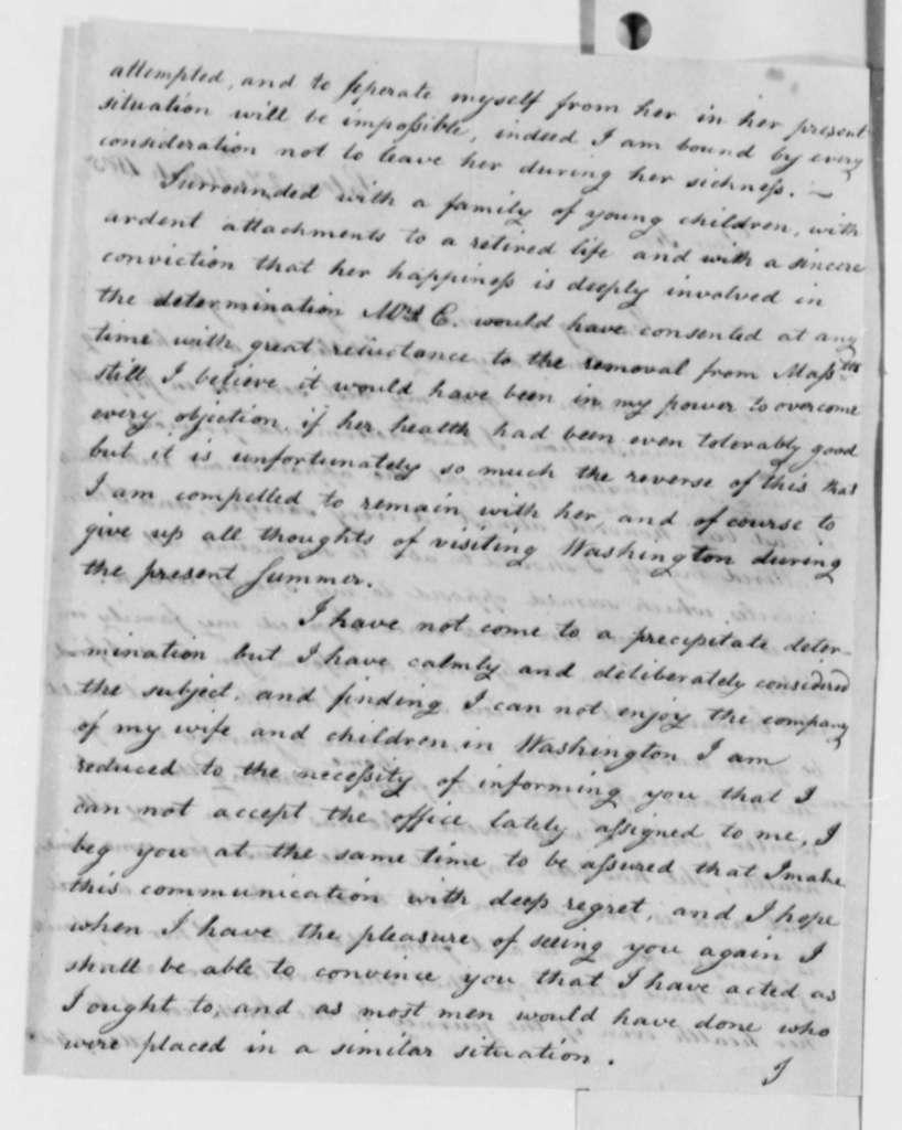 Jacob Crowninshield to Thomas Jefferson, March 27, 1805