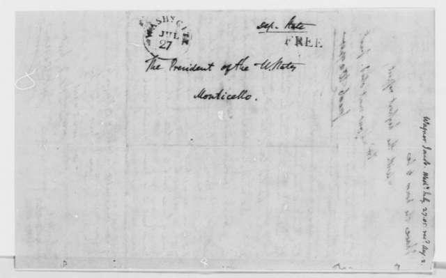 Jacob Wagner to Thomas Jefferson, July 27, 1805