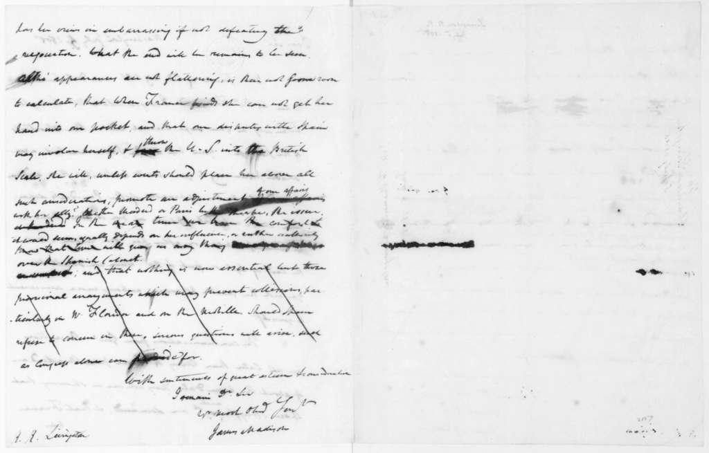 James Madison to Robert R. Livingston, July 5, 1805.