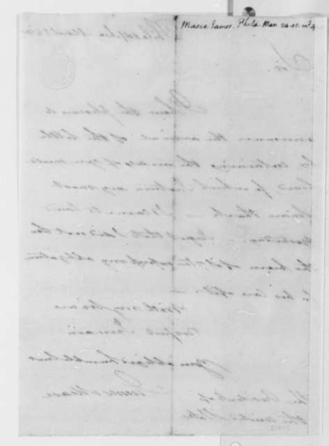 James Mease to Thomas Jefferson, March 24, 1805