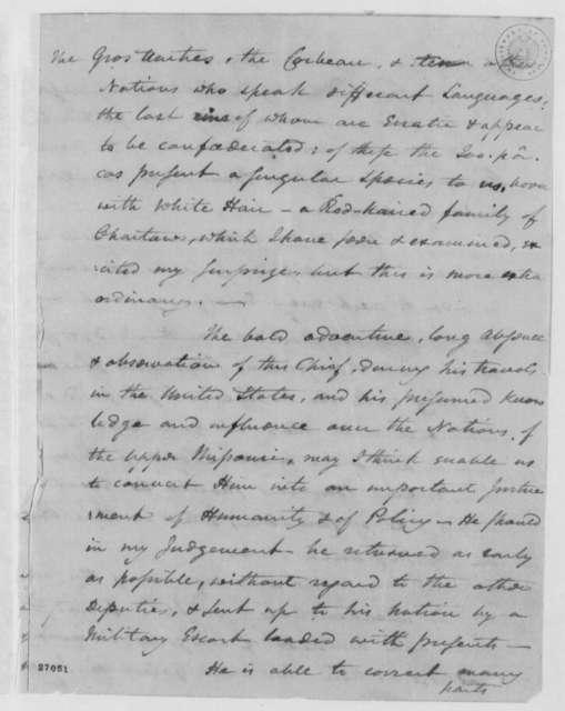 James Wilkinson to Thomas Jefferson, December 23, 1805