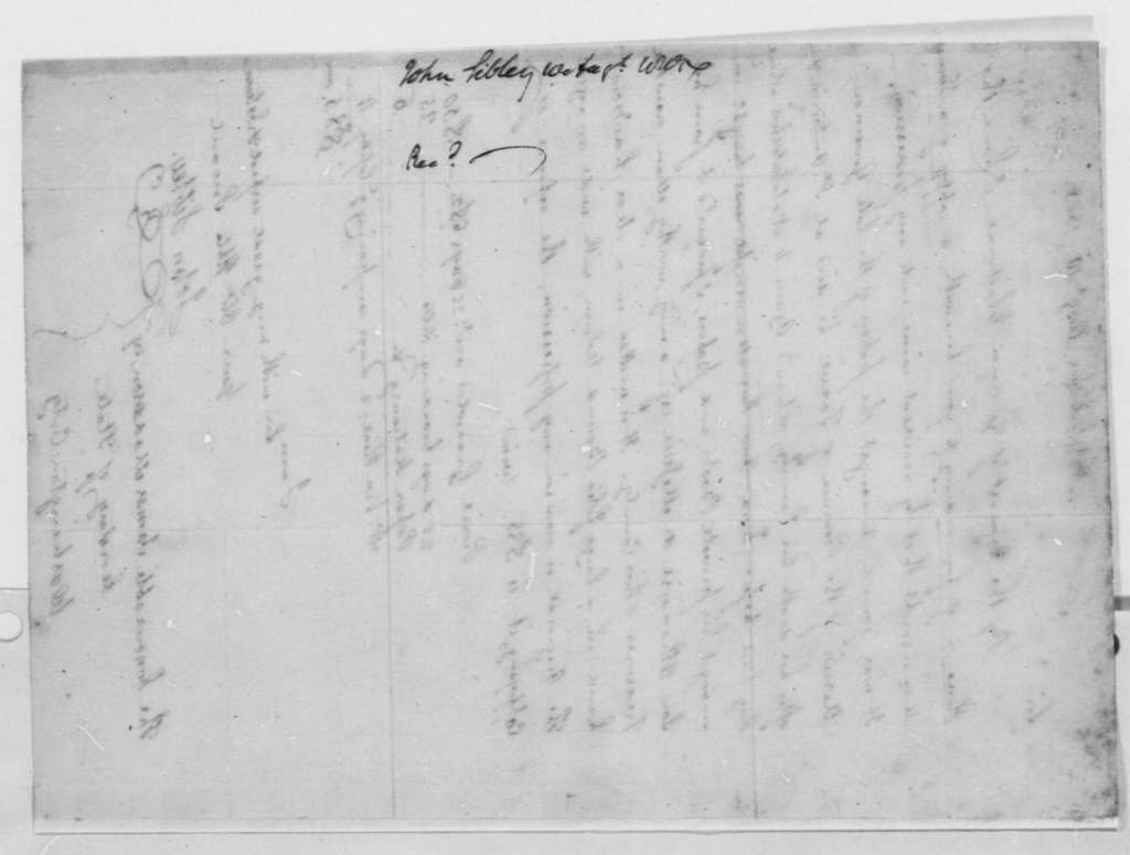 John Sibley to James Madison, August 10, 1805, with Copy