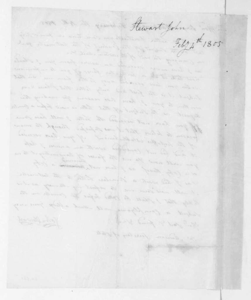 John Stewart to James Madison, February 4, 1805.