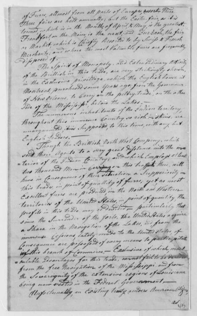 Lot Merkel to Thomas Jefferson, December 19, 1805, with Statement
