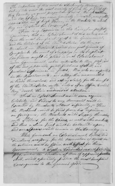 Lot Merkel to Thomas Jefferson, December 19, 1805, with Statement