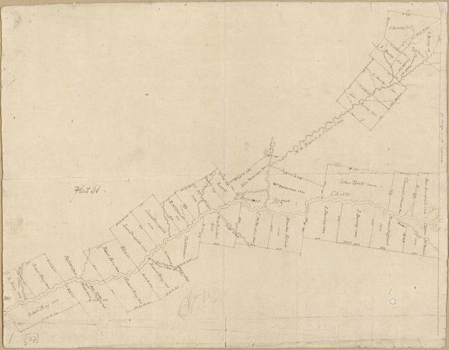 [Map of an area along Bayou Bogue Chitto, Spanish West Florida].