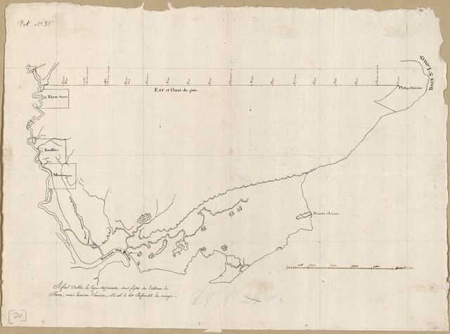 [Map of an area from Pearl River to Bay St. Louis in Spanish West Florida].