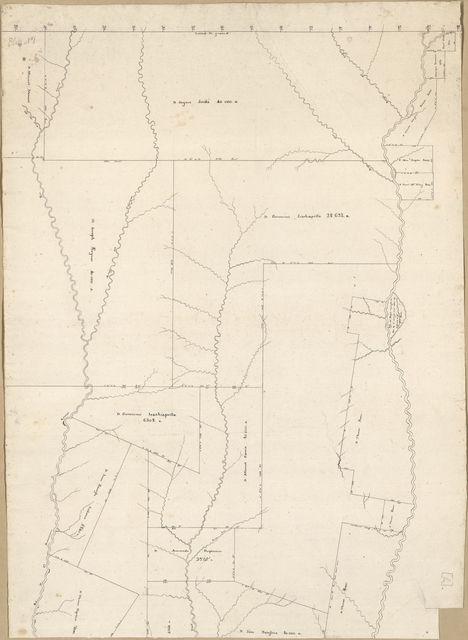 [Map of an area of Spanish West Florida bounded by Rios Comite on the west and Amite on the east].