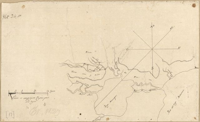 [Map of an area of Spanish West Florida bounded on the east by Lake Pontchartrain and the west by the Comite River].