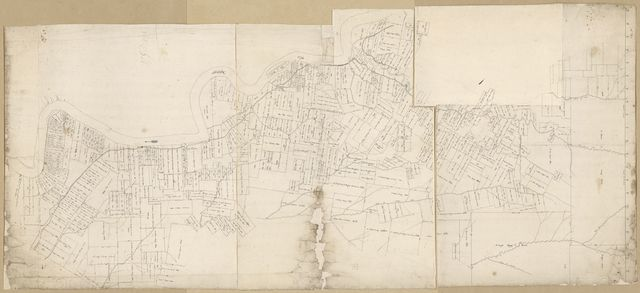 [Map of area from Rio Iberville to Thompson's Creek along the Mississippi River, Spanish West Florida, Districts of Manchac, Baton Rouge, and Feliciana].