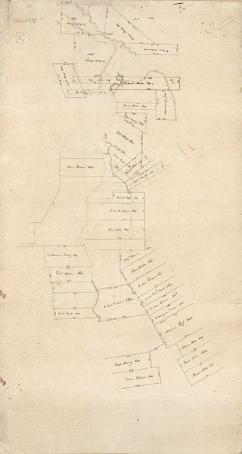 [Map of Feliciana District, Spanish West Florida, along Bayour Sara].
