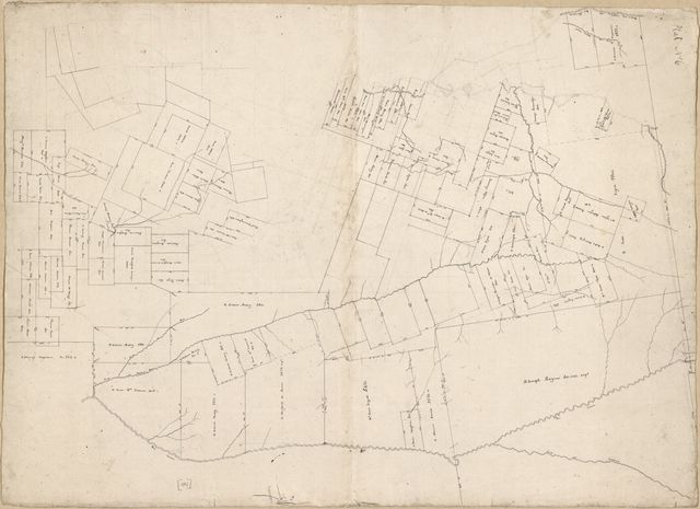 [Map of landowners between the Rio Comite and the Rio Feliciana, Spanish West Florida].