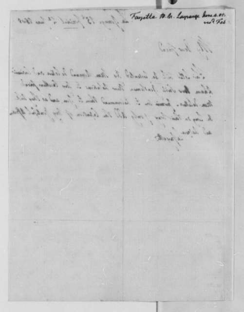 Marie Joseph Paul Yves Roch Gilbert du Motier, Marquis de Lafayette to Thomas Jefferson, June 4, 1805
