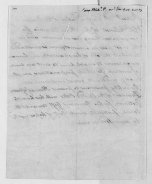 Michael D. Lacy to Thomas Jefferson, December 9, 1805