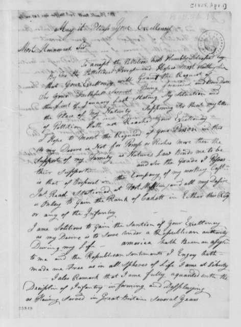 Neil McPhail to Thomas Jefferson, April 1, 1805