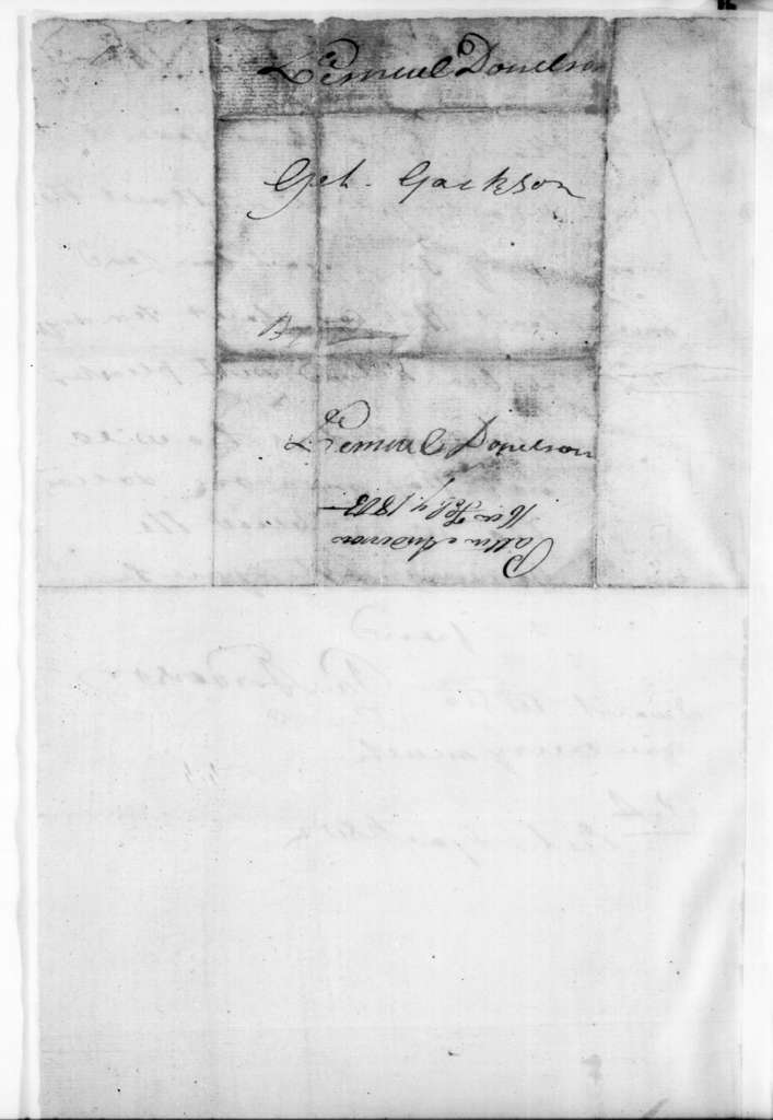 P. Anderson to Andrew Jackson, February 16, 1805