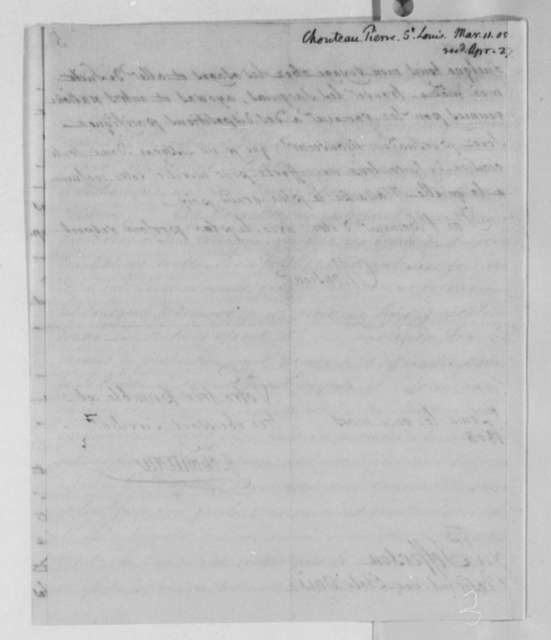 Pierre Chouteau to Thomas Jefferson, March 11, 1805, in French