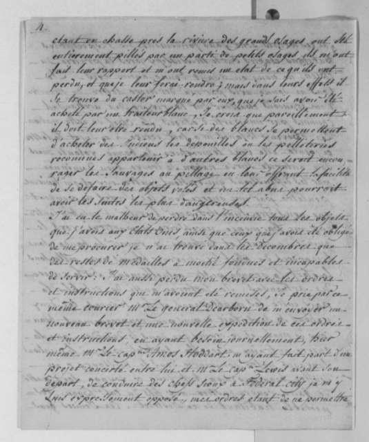 Pierre Chouteau to Thomas Jefferson, March 2, 1805