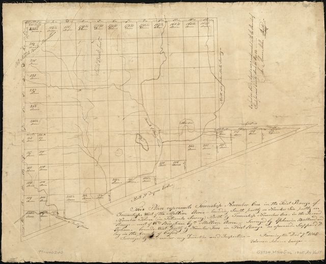 Plan of township no. 1, north of Phillips /