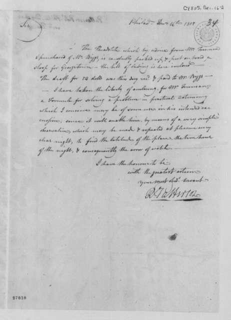 Robert Patterson to Thomas Jefferson, December 16, 1805