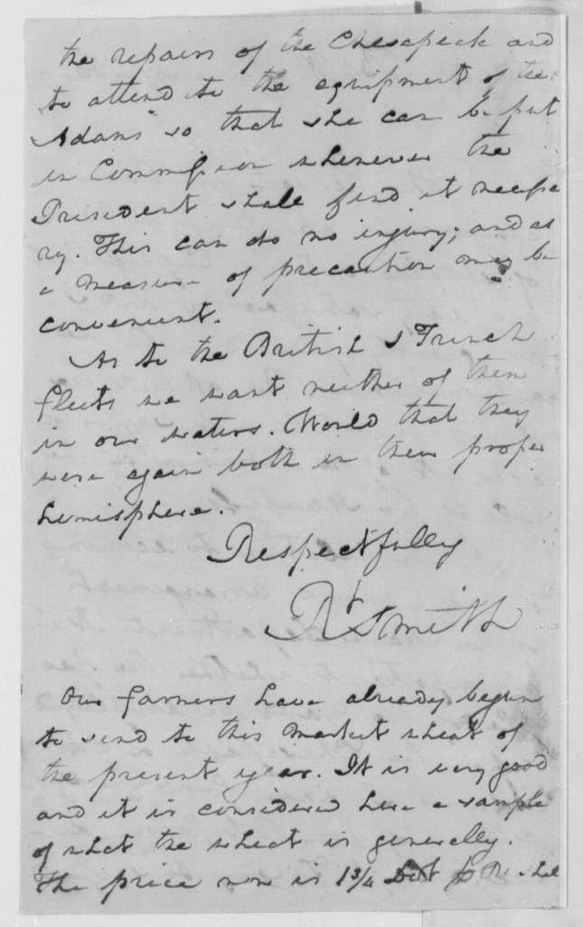 Robert Smith to Thomas Jefferson, June 27, 1805