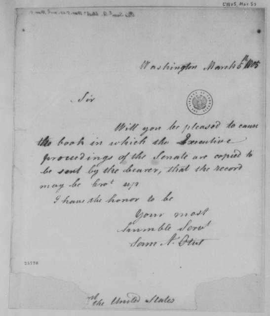 Samuel A. Otis to Thomas Jefferson, March 5, 1805